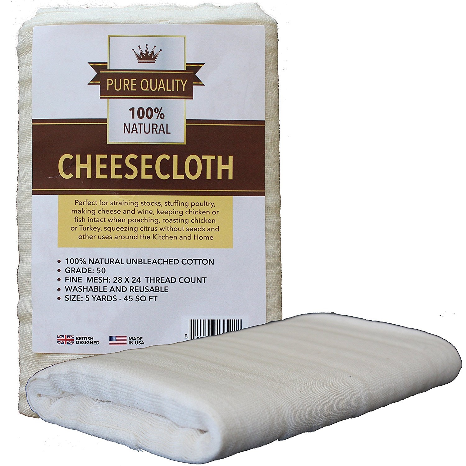 Grade 50 Cheesecloth 45 Square Feet