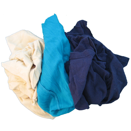 Recycled Colored T-Shirt Rags - 25lb Box