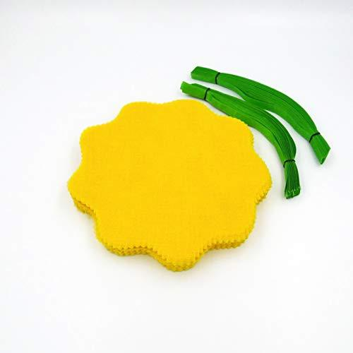 Lemon Wraps with Green Ribbon (12 Pack) 100% Cotton
